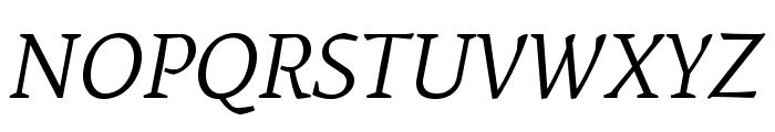 Mate-Italic Font UPPERCASE