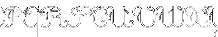 Maternellecolor creuse Font UPPERCASE