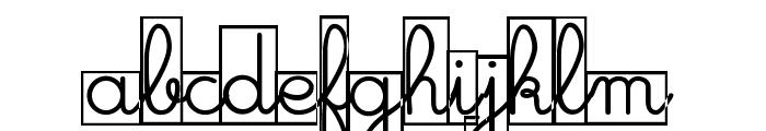 Maternellecolor cursive case Font LOWERCASE