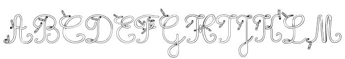 Maternellecolor trace cursive Font UPPERCASE