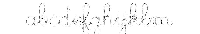 Maternellecolor trace cursive Font LOWERCASE