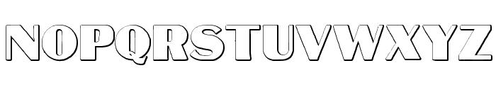 MateusBold Beveled Font UPPERCASE