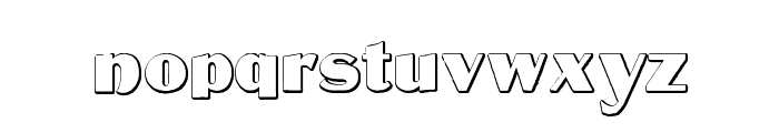 MateusBold Beveled Font LOWERCASE