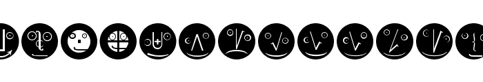 MathEmoticonsInverse Font LOWERCASE
