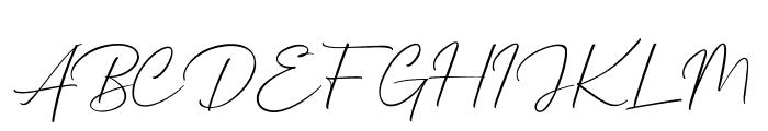 Mathanifo Script Regular Font UPPERCASE