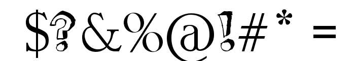 Mathematics Boredom Font OTHER CHARS