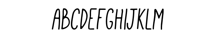 Mathlete-BulkySlant Font LOWERCASE