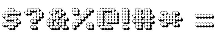 Matrix Complex 3D NC Font OTHER CHARS