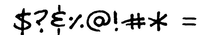 MattB Font OTHER CHARS