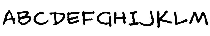 MattB Font UPPERCASE