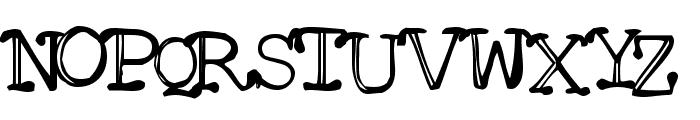 Mattfont Squished  Black Font UPPERCASE
