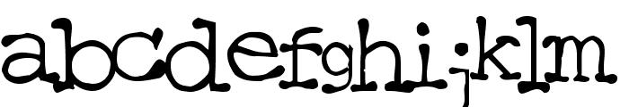 Mattfont Squished  Black Font LOWERCASE