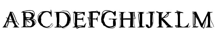 Maudlin Sketch Font UPPERCASE