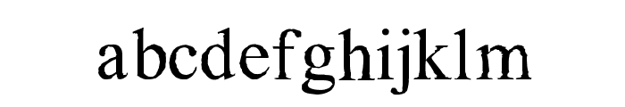 Maudlin Sketch Font LOWERCASE