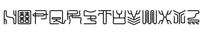 MaximageZhiLong Font UPPERCASE