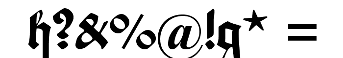 Maximilian Zier Font OTHER CHARS