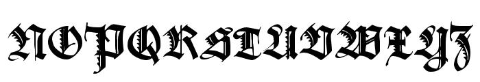 Maximilian Zier Font UPPERCASE