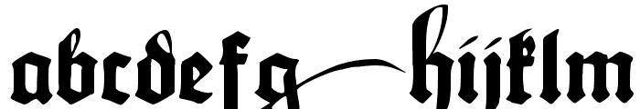 Maximilian Zier Font LOWERCASE