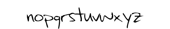 Max's Handwritin Font LOWERCASE
