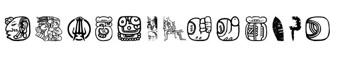 Maya Allstars Font LOWERCASE