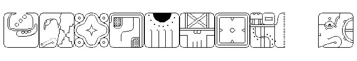 Maya CalendricV1.50 Font OTHER CHARS