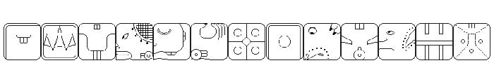 Maya CalendricV1.50 Font UPPERCASE
