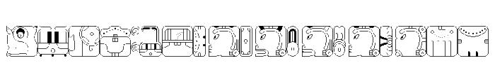 Maya CalendricV1.50 Font LOWERCASE