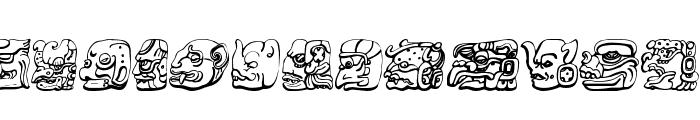 Mayan Font UPPERCASE