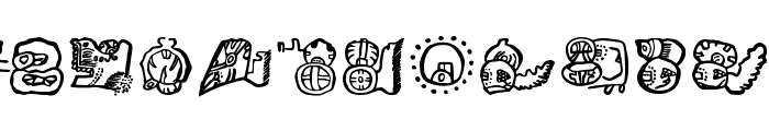MayanMexicanSymbols Font UPPERCASE