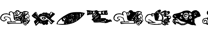 MayanMexicanSymbols Font LOWERCASE
