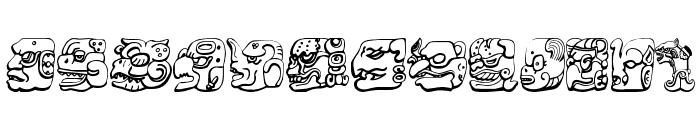 Mayan Font LOWERCASE