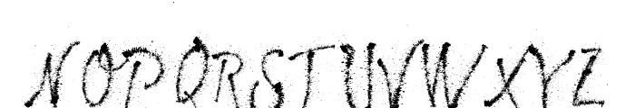 Maybe Pollock Font UPPERCASE