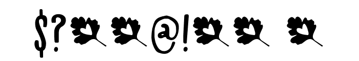 Mayblossom DEMO Regular Font OTHER CHARS