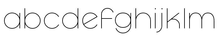 Mayeka Thin Demo Font LOWERCASE