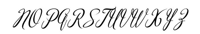 madania script Font UPPERCASE