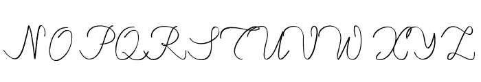 maheishia Font UPPERCASE