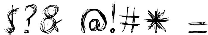 manic-depressive Font OTHER CHARS