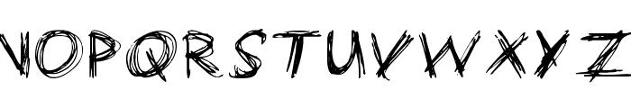 manic-depressive Font UPPERCASE