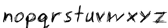 manic-depressive Font LOWERCASE
