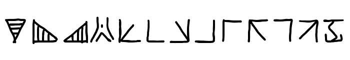 mantrakshar X02 Font UPPERCASE