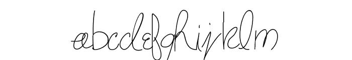 maryshandwriting Font LOWERCASE