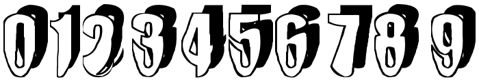 mashy-DroopShadow Font OTHER CHARS