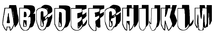 mashy-DroopShadow Font UPPERCASE