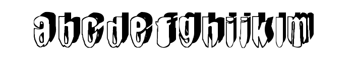 mashy-DroopShadow Font LOWERCASE