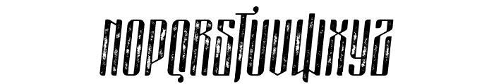masquerouge rough italic Font UPPERCASE