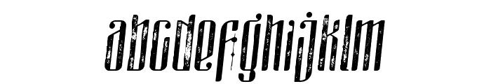 masquerouge rough italic Font LOWERCASE