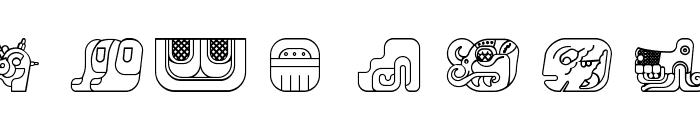 mayanglyphsoutline-Regular Font OTHER CHARS