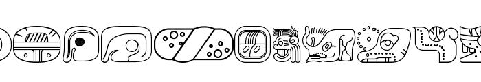 mayanglyphsoutline-Regular Font UPPERCASE