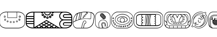 mayanglyphsoutline-Regular Font LOWERCASE