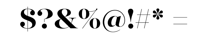 MajestiBanner-Bold Font OTHER CHARS
